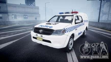 Toyota Hilux NSWPF [ELS] scoop para GTA 4
