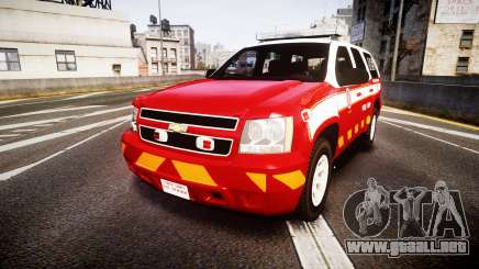 Chevrolet Tahoe 2013 Battalion Chief Unit [ELS] para GTA 4
