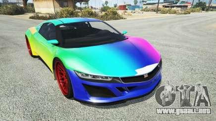 Dinka Jester (Racecar) Rainbow para GTA 5