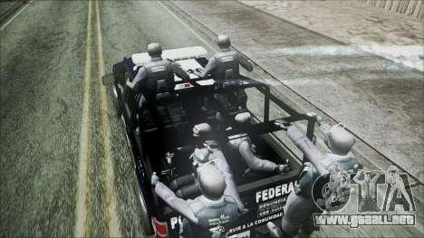 Ford Pickup Policia Federal para GTA San Andreas vista posterior izquierda