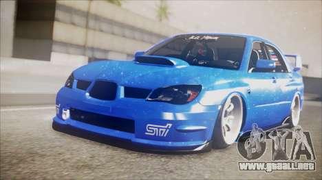 Subaru Impreza WRX STI B. O. Construction para GTA San Andreas