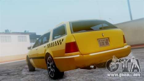 Stratum Taxi para GTA San Andreas vista hacia atrás