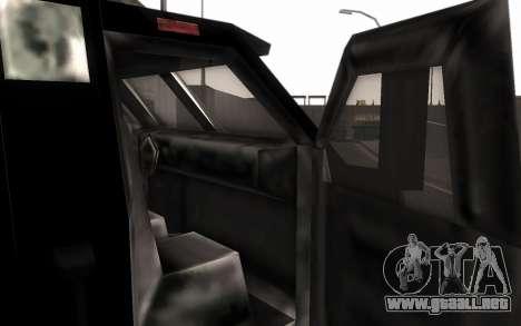 Máquina de la entrega de piezas de ajuste para GTA San Andreas vista posterior izquierda