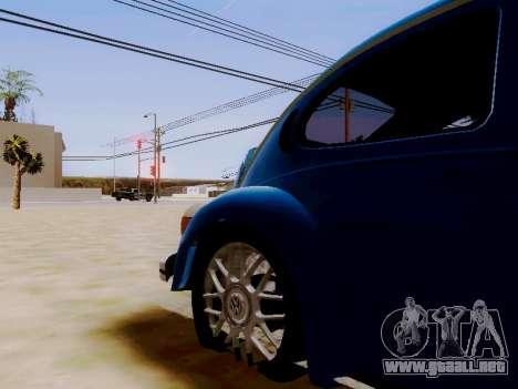 Volkswagen Beetle 1980 Stanced v1 para visión interna GTA San Andreas