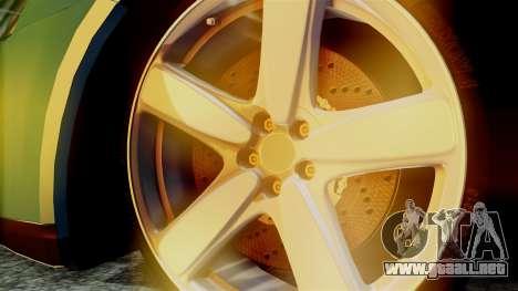 Volkswagen Golf Mk5 para GTA San Andreas vista posterior izquierda