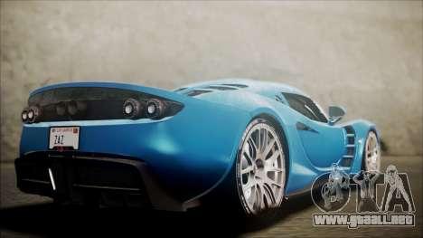 Hennessey Venom GT 2012 U.S.A American para GTA San Andreas left