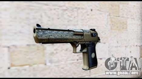 Golden Engraved Desert Eagle para GTA San Andreas
