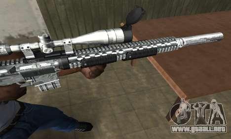 Full Silver Sniper Rifle para GTA San Andreas segunda pantalla