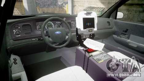 Ford Crown Victoria Bohan Police [ELS] para GTA 4 vista hacia atrás