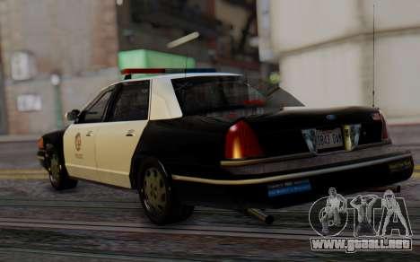 Ford Crown Victoria LSPD para GTA San Andreas left