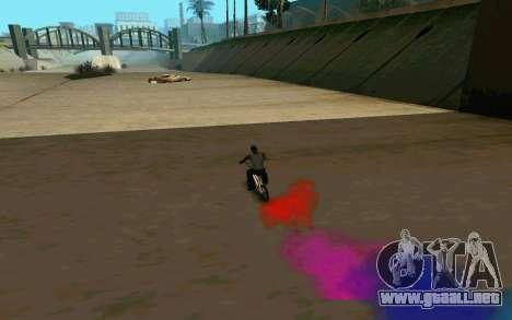 Bike Smoke para GTA San Andreas quinta pantalla