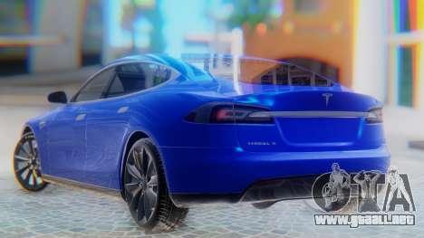 Tesla Model S para GTA San Andreas left
