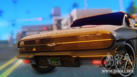 Chevrolet Impala 1960 para GTA San Andreas vista hacia atrás