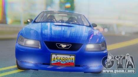 Ford Mustang 1999 Clean para visión interna GTA San Andreas