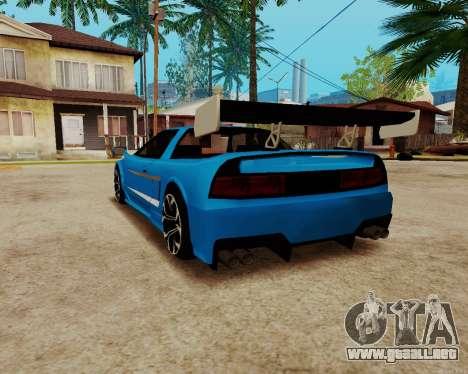 Infernus Lamborghini para GTA San Andreas vista posterior izquierda