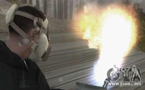La máscara es de DayZ Standalone para GTA San Andreas tercera pantalla