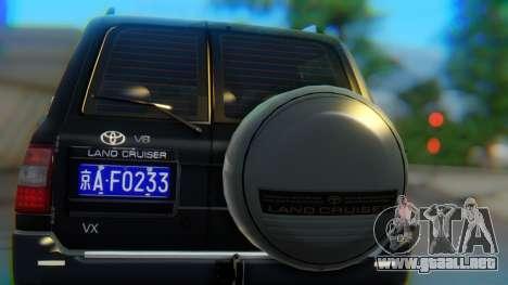 Toyota Land Cruiser 105 para visión interna GTA San Andreas