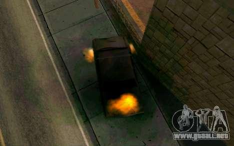 Burning car mod from GTA 4 para GTA San Andreas tercera pantalla