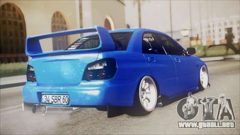 Subaru Impreza WRX STI B. O. Construction para GTA San Andreas left