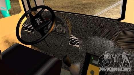 JAC Microbus para GTA San Andreas vista posterior izquierda