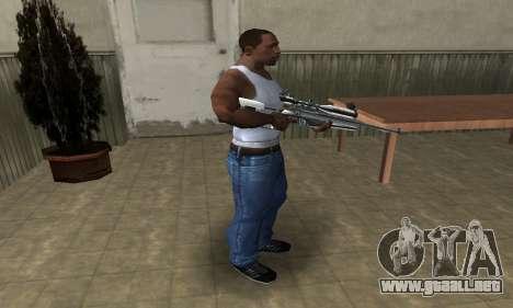 Full Silver Sniper Rifle para GTA San Andreas tercera pantalla