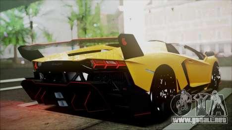 Lamborghini Veneno LP700-4 AVSM Roadster Version para GTA San Andreas vista posterior izquierda