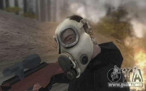 La máscara es de DayZ Standalone para GTA San Andreas sucesivamente de pantalla