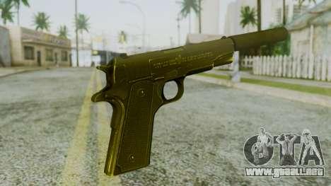 Silenced M1911 Pistol para GTA San Andreas segunda pantalla