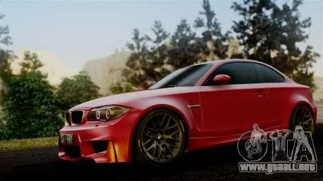 BMW 1M E82 v2 para GTA San Andreas vista posterior izquierda