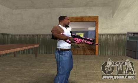 Lamen Sniper para GTA San Andreas segunda pantalla