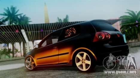 Volkswagen Golf Mk5 para visión interna GTA San Andreas