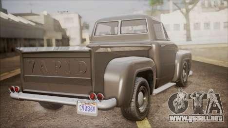 GTA 5 Vapid Slamvan Pickup para GTA San Andreas left