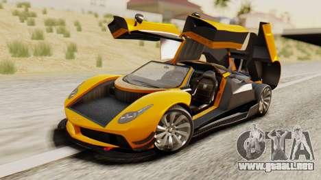 Pegassi Osyra Full Extras para visión interna GTA San Andreas