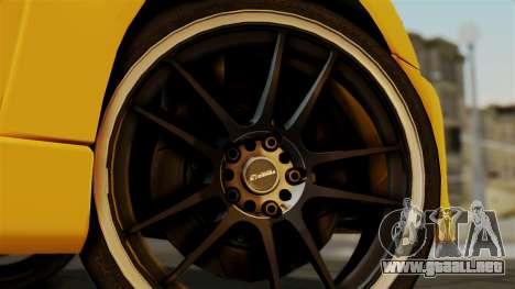 Mitsubishi Lancer Evolution 2015 para GTA San Andreas vista posterior izquierda