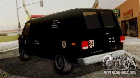 Chevrolet Chevy Van G20 Paraguay Police para GTA San Andreas left