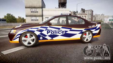 Ford Falcon BA XR8 Highway Patrol [ELS] para GTA 4 left