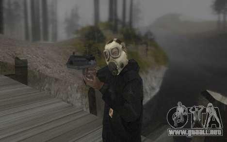 La máscara es de DayZ Standalone para GTA San Andreas segunda pantalla