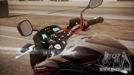 Honda CB650F Pretona para GTA San Andreas vista hacia atrás