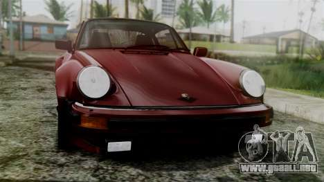 Porsche 911 Turbo (930) 1985 Kit C para GTA San Andreas vista hacia atrás