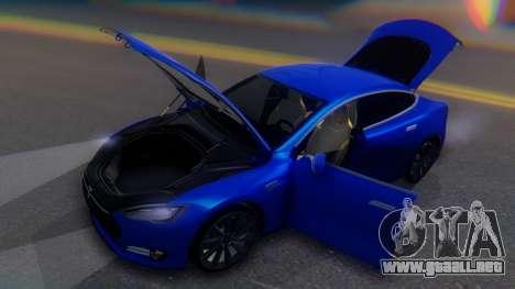 Tesla Model S para vista lateral GTA San Andreas
