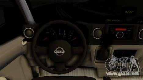 Nissan NV350 Urvan Leonardo para la visión correcta GTA San Andreas