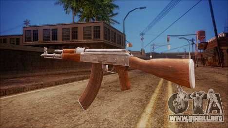 AK-47 v6 from Battlefield Hardline para GTA San Andreas segunda pantalla