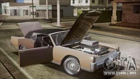 GTA 5 Vapid Chino IVF para visión interna GTA San Andreas