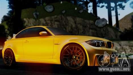 BMW 1M E82 v2 para vista lateral GTA San Andreas