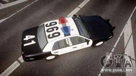 Ford Crown Victoria 2011 LAPD [ELS] rims1 para GTA 4 visión correcta