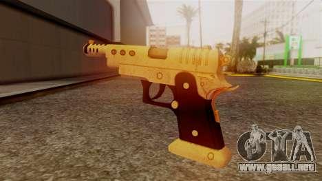 Chrome Hammer Pistol para GTA San Andreas segunda pantalla