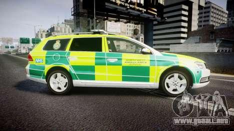 Volkswagen Passat B7 North West Ambulance [ELS] para GTA 4 left