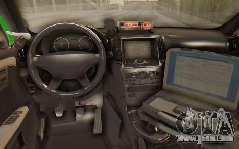 Ford Taurus Iraq Police para GTA San Andreas vista posterior izquierda