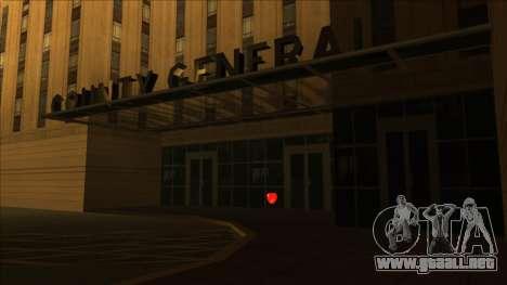 HP pastillas cerca de los hospitales en el estad para GTA San Andreas segunda pantalla