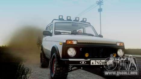 VAZ 2121 Niva 4x4 para GTA San Andreas vista hacia atrás